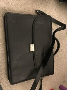 Barney's New York Leather Briefcase New