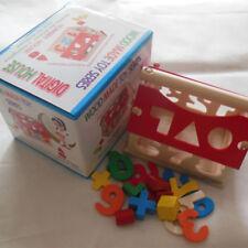 Wooden House Number Shape Sorter Toys Puzzle Assemble Blocks Kids Educational