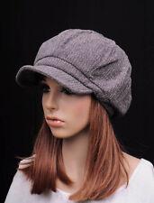 M337 Dark Gray Fashion Classic Cotton Blends Newsboy Hat Visor Hunter Cap New