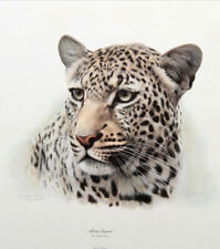 CHARLES FRACE AFRICAN LEOPARD LITHOGRAPH HAND SIGNED DECORATIVE ART LTD ED PRINT