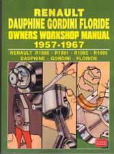 RENAULT DAUPHINE,GORDINI,FLORIDE (CARAVELLE) OWNERS WORKSHOP MANUAL 1957-1967