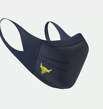 Project Rock Under Armour Sportsmask Face Mask 1368451, Navy Gold, XS S M L XL