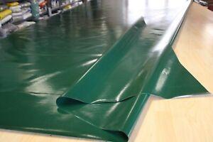 3,40€/m² Plane Abdeckplane PVC Holzplane Top B-Ware 700gr/m² t.grün 2,50m/5,80m