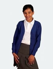 **SCHOOL QUALITY CARDIGANS-ACRYLIC KNIT-Choice of COLOURS & SIZES-from-4-16yrs**