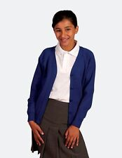 *SCHOOL CARDIGANS QUALITY-ACRYLIC KNIT-Choice of COLOURS & SIZES-from-4-16yrs**