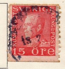 Sweden 1920-25 Early Issue Fine Used 15ore.  118395