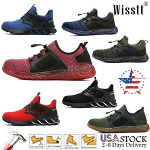 Indestructible Safety Work Shoes Steel Toe Breathable Work Boots Men's Sneakers