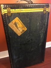 Vintage Mendel Tourist Wardrobe Steamer Trunk Luggage Cunard White Line Sticker