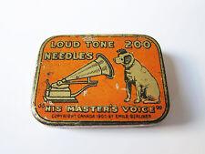 Grammophon NADELDOSE HIS MASTER'S VOICE CANADA gramophone needle tin