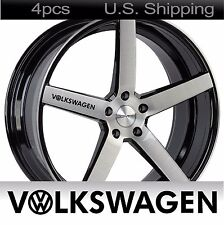 4 VOLKSWAGEN Stickers Decals Door handle Wheels Rims mirror VW Golf BLACK
