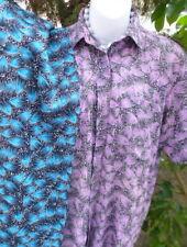 Voile Batiste thin 100%Cotton~Turquoise Black~90 cm widex3M length~Vintage India