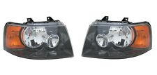 Right and Left Side Replacement Headlight PAIR For 2003-2006 Ford Expedition