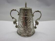 antike Miniatur Dose Puppenstube aus Silber Niederlande 19.Jhdt.