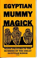 EGYPTIAN MUMMY MAGICK BOOK by S. Rob occult spells magic