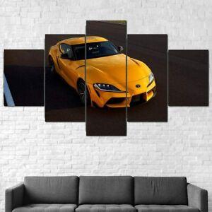 2021 GR Supra Car 5 Piece canvas Wall Art Print Home Decor