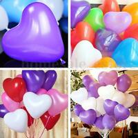 "100pcs 12"" Color Heart Shaped Latex Balloons Wedding Birthday Party Decoration"