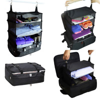 Portable Luggage System Large Travel Packable Hanging Shelves Organizer Cube