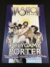 "Polygamy Porter Utah Micro Brewery Poster 19""x13"""