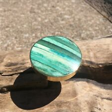 Turquoise Green Bone Inlay Drawer Knobs - Cabinet Knobs