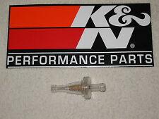 "K&N Fuel Filter for Harley, 1/4""  Fuel Line, Hi Volume Low Pressure, Cleanable"