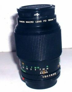 Canon 100mm F/4 Macro FD Mount Lens {52} Serial-13171