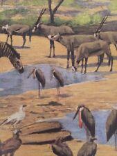 Watering Hole / Northern Kenya Poster / Wildlife In Art