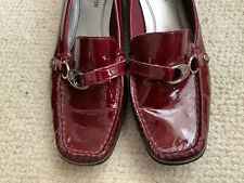 Anne Klein iFlex Red Patent Leather Loafer Slip On Shoes Women's Size 7.5