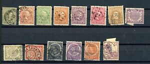 NETHERLANDS INDIES--Lot of 14 early stamps