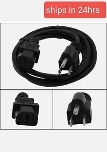 1.5Ft 18 Gauge 3 Prong NEMA 5-15P to IEC320 C13 AC Power Cord Cable PC Monitor