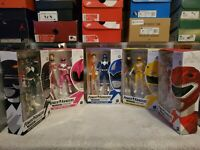 Power Rangers Lightning Collection: Mighty Morphin Black Pink Blue Yellow Red