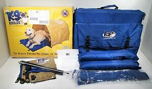 """K-9 Koolee Portable Dog Cooling Pad Bed with Tent Large 24""""X36"""" up to 125lbs"""