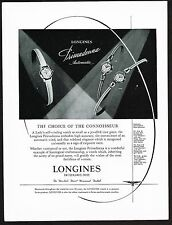1959 Old Vintage Longines Watch Co. Primadonna Swiss Watches Art Print Ad