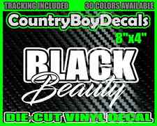 BLACK BEAUTY Vinyl DECAL STICKER Car Truck Diesel Boost Turbo Hated Money Stance
