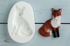 Silicone Mould, Sitting Fox, Woodland, Animal, Wildlife Ellam Sugarcraft  M0174