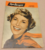 JANET LEIGH FRONT COVER + KAI WINDING ON BACK COVER VINTAGE Danish Magazine 1953
