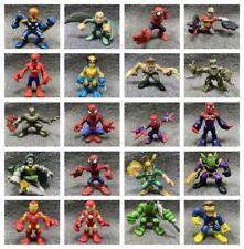 Random 10x Marvel Super Hero Squad Captain America Spider-man X-men Figure Toys