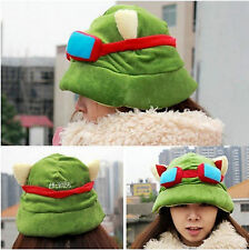 Green League of Legends Hot Fashion Plush Suit Cool Cute Cosplay LOL Teemo Hat