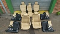 LAND ROVER DISCOVERY 3 Cream Leather Interior Seats and Door Cards 2007