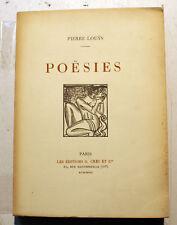 LOUYS/POESIES/ED CRES ET CIE/1927/CURIOSA