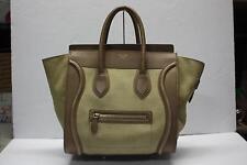 Celine Mini Luggage Tote Bag Beige/Nubuck Pebble Calfskin Soft Calfskin