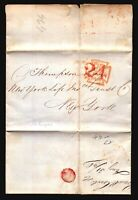 1848 (Sep 2) Retaliatory Rate Cover / RMS Europa / 24c London to NY - L4718