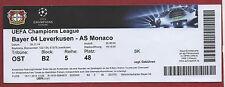 ORIG. biglietto CHAMPIONS LEAGUE 14/15 Bayer Leverkusen-AS Monaco!!! RARO