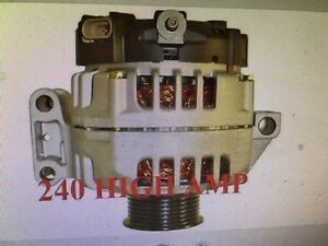 NEW 240 HIGH AMP ALTERNATOR 2006 Hummer H3 3.5L # TG13S013 11147 Canyon Colorado