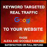 Drive 100,000 Real Keyword Targeted Low Bounce Rate Website Traffic for $19.99