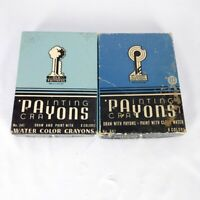 Set of 2 Old Faithful Painting Crayons Payons box of 8 water color Opened / Used