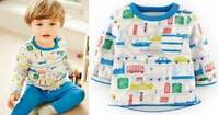 Mini Baby Boden boys top London print reversible tee shirt age 3 - 24 months
