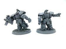 Warhammer 40k Space Marines Centurion Devastator Squad Primed Heavy Bolters