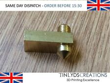 Ultimaker 2 Brass Nozzle Block -  0.4mm  - Ultimaker 2 3D Printer Part