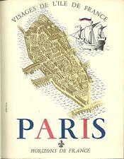 VISAGES DE L'ILE DE FRANCE : PARIS  - Horizons de France - 1950