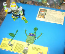 1989 Playmates TMNT Metalhead with Bio card & Weapons Card Loose NM-MT missing p